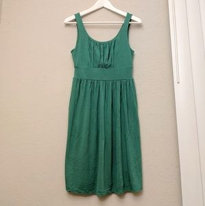 Relaxed fit dress in soft emerald green